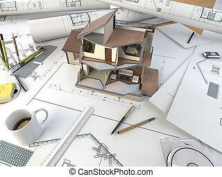 таблица, раздел, архитектор, модель, рисование