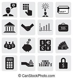также, богатство, экономия, icons(signs), создание, банка, бизнес, финансы, вложения, вектор, &, graphic., связанный, можно, money(cash), деньги, wealth-, экономия, cards, иллюстрация, счет, представлять, это, банковское дело