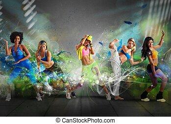 танцор, современное, команда