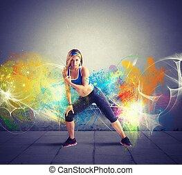 танцор, современное