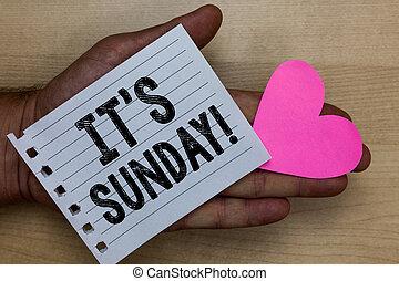 текст, знак, отдых, показ, поклонение, религиозная, блокнот, кусок, выходные, ideas, messages, sunday., держа, фото, день, часть, романтический, это, бумага, feelings., человек, концептуальный, сердце, s