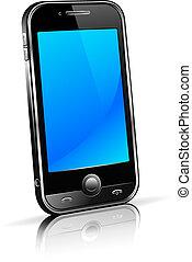 телефон, клетка, умная, 3d, мобильный