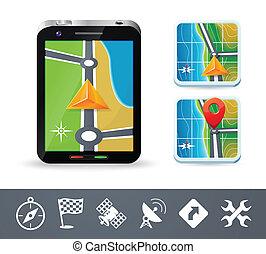 телефон, навигация, icons