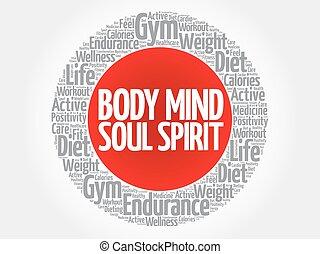 тело, круг, разум, душа, дух