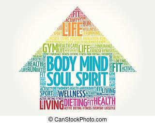 тело, разум, душа, стрела, дух