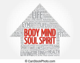 тело, слово, разум, душа, стрела, дух, облако