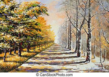 тема, аллегория, winter-autumn