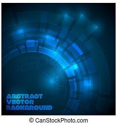 темно, синий, абстрактные, технический, задний план