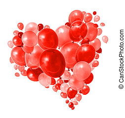 тепло, красный, пурпурный, летающий, balloons