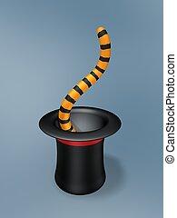 тигр, магия, хвост, шапка
