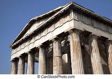 тому назад, древний, гефест, храм