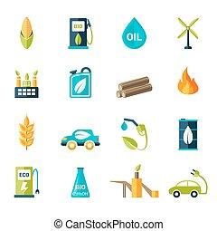 топливо, био, задавать, icons