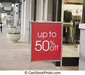 торговый центр, продажа, знак, за пределами, розничная торговля, магазин