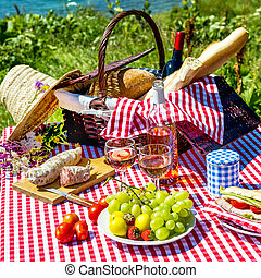 трава, пикник
