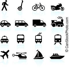 транспорт, elements, дизайн, icons