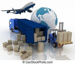 транспорт, transporting, types, loads.
