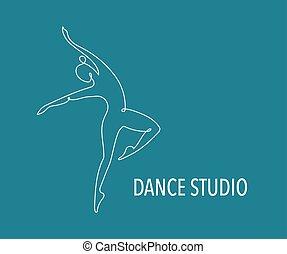 тренер, web, красочный, люди, танец, абстрактные, гимнастический зал, бег, вектор, фитнес, логотип, design., logo., символ, значок
