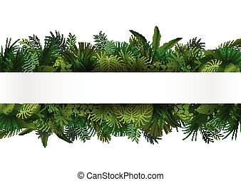 тропический, дизайн, цветочный, foliage.