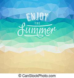 тропический, лето, день отдыха, пляж, задний план
