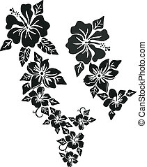 тропический, цветок, одежда