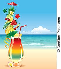 тропический, cocktai