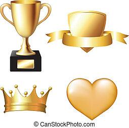 трофей, задавать, золото