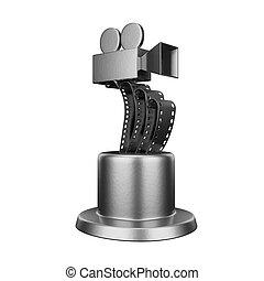 трофей, концептуальный, дизайн, фильм, награда