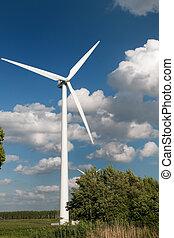 турбина, ветер