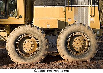 тяжелый, оборудование, wheels