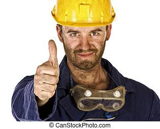 тяжелый, промышленность, доверять, работник