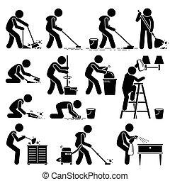 уборка, дом, очиститель, мойка