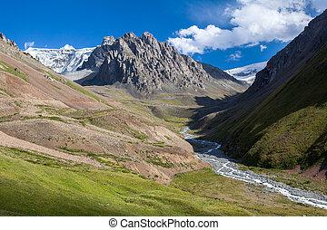 удивительно, река, небо, mountains, пейзаж