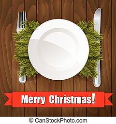 ужин, рождество