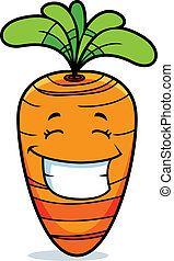 улыбается, морковь