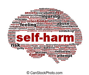 умственный, символ, isolated, self-harm, здоровье, белый