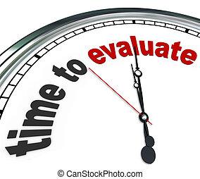 управление, часы, оценивать, обзор, время, оценка, или