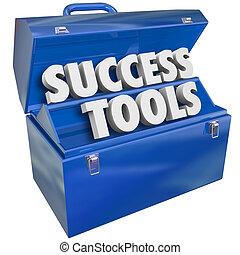 успех, навыки, goals, ящик для инструментов, инструменты, achieving