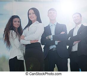 успешный, группа, бизнес, люди