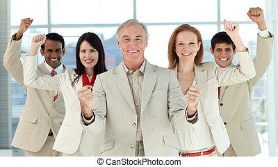 успешный, люди, международный, бизнес