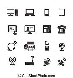 устройство, коммуникация, icons