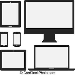 устройство, icons, электронный