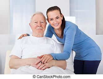 утешающий, старшая, воспитатель, человек