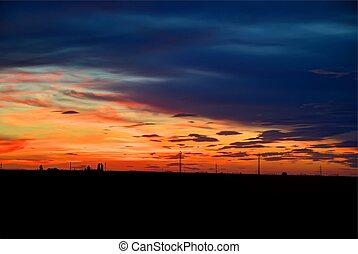 фантастика, закат солнца