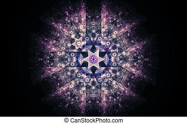 фантастика, черный, rays, звезда, абстрактные, многие, задний план, иллюстрация