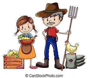 фермер, продавец
