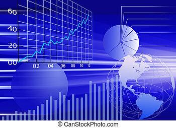 финансовый, бизнес, абстрактные, задний план, мир, данные