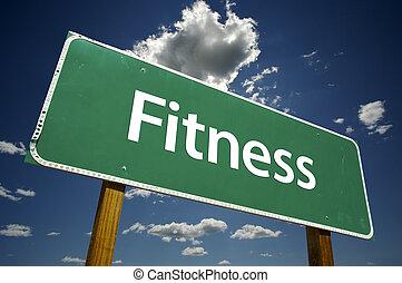 фитнес, дорога, знак