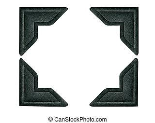 фото, черный, corners