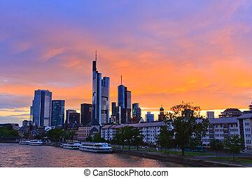 франкфурт-на, закат солнца