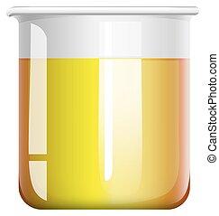 химическая, мерный стакан, смесь